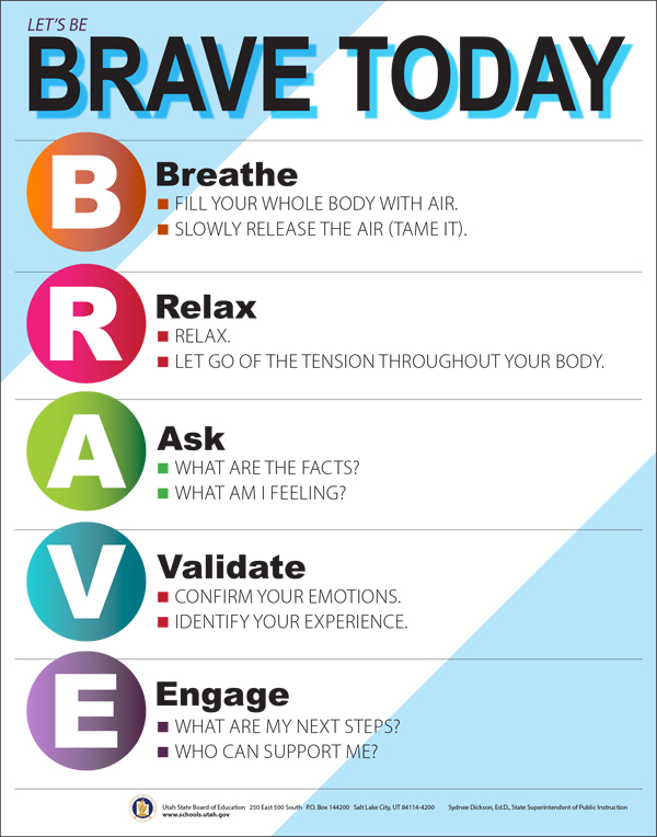 Let's Be Brave today for Secondary Grade