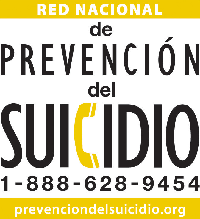 National Suicide Prevention Lifeline Wallet Card Spanish